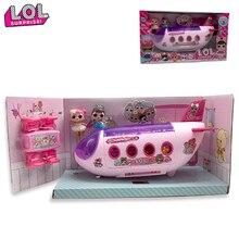LOL Surprise Doll muñecas originales lols Surprise Airplane juguetes Anime figuras avión modelo colección DIY regalos de cumpleaños para niña