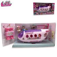 LOL Surprise poupée originale lols poupées Surprise avion jouets Anime figurines avion modèle Collection bricolage cadeaux d'anniversaire pour fille