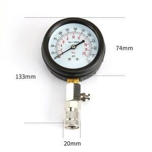 Image 2 - Benzin Engine Compression Tester Auto Benzin Gas Motor Zylinder Automobil Manometer Tester mit M10 M12 M14 M18 Adapter