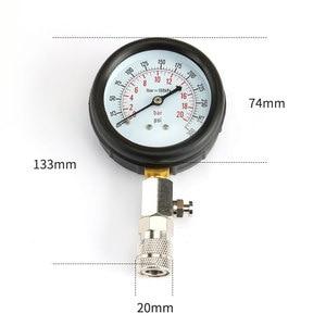 Image 2 - Benzinemotor Compressie Tester Auto Benzine Gas Motor Cilinder Auto Manometer Tester Met M10 M12 M14 M18 Adapter