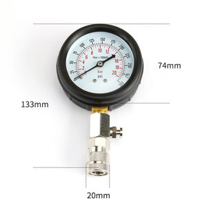 Image 2 - Gasoline Engine Compression Tester Auto Petrol Gas Engine Cylinder Automobile Pressure Gauge Tester with M10 M12 M14 M18 Adapter