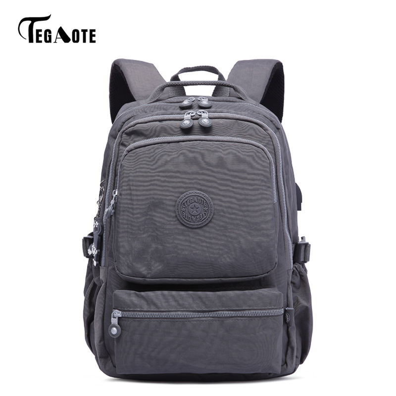 TEGAOTE Anti Theft USB Charge Backpack Women School Bag For Teenages Mochila Feminina Female Laptop Bagpack Travel Back Pack Men