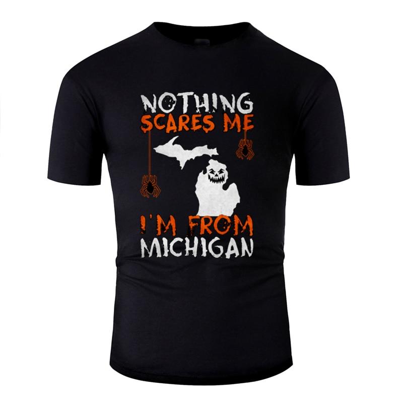 Divertido Humor Míchigan halloween 2019 miedo camiseta Zombie 2019 Formal camiseta unisex cuello redondo algodón tamaño S-5xl HipHop
