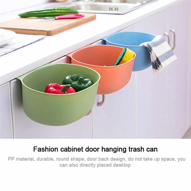 Estilo europeu casa armário de cozinha armário porta de volta recipiente de lixo pendurado design lixo bin caixa de armazenamento