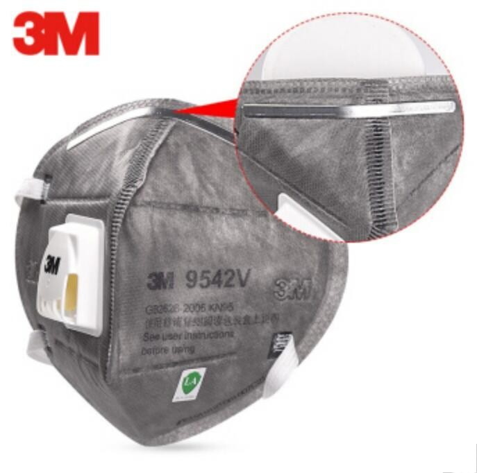 3M 9542V N95 Grey Safety Protective FFP2 FFP3 Dust Masks Anti-PM 2.5 Sanitary Working Respirator With Filter Structure FFP3