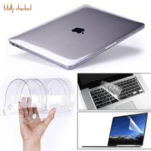 3in1 Crystal\Matte Transparent Case For Apple Macbook Air Pro Retina 11 12 13 15 For Macbook Air 13 Laptop Case Cover