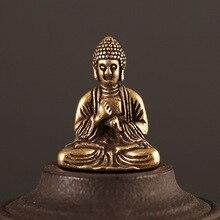 Sakyamuni Buddha Statue Handmade Brass Buddha Sculpture Fengshui Figurine Meditation Miniature Home Decor Creative Gift hanif kureishi äärelinna buddha