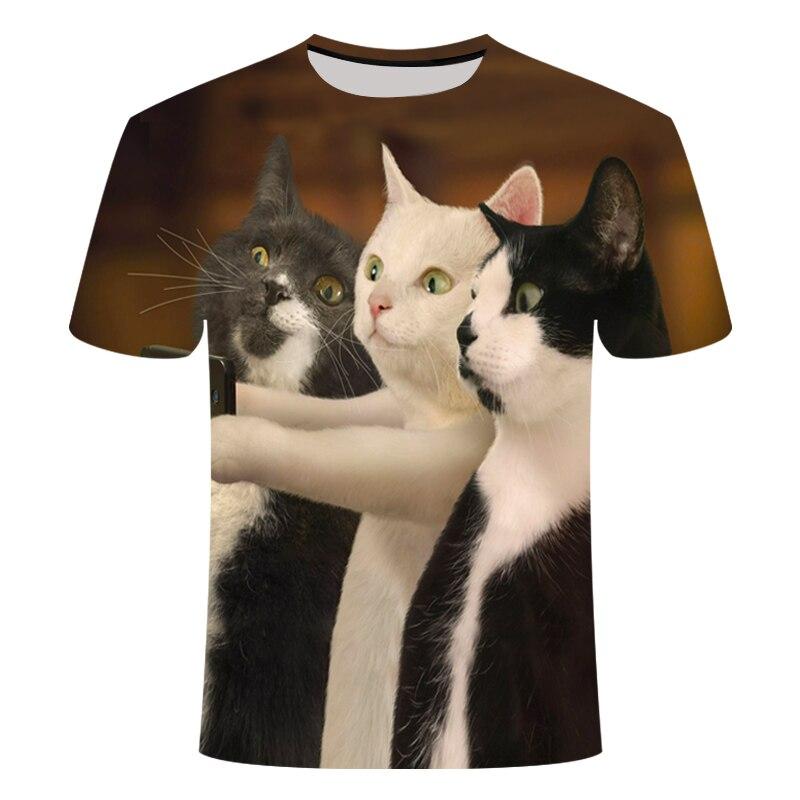 Hot Koop Zomer Ondeugende Zwarte Kat 3D T Shirt Vrouwen Mooie Cartoon Tshirt Goede Kwaliteit Originele Merk Shirts Casual Tops