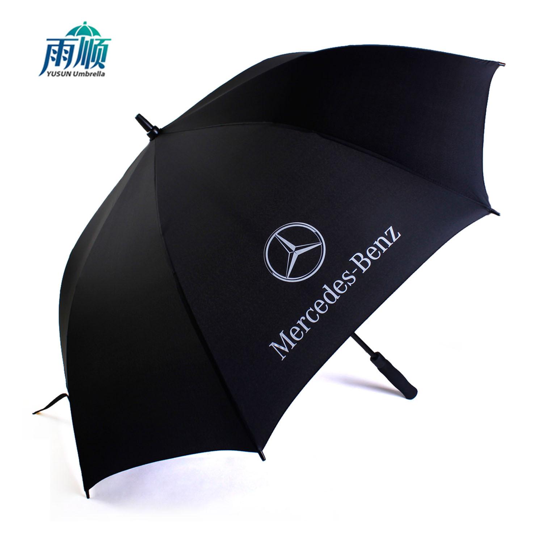 Oversized Double Straight Umbrella Fiber Golf Umbrella All-Weather Umbrella Gift Advertising Umbrella Customizable Logo Wholesal