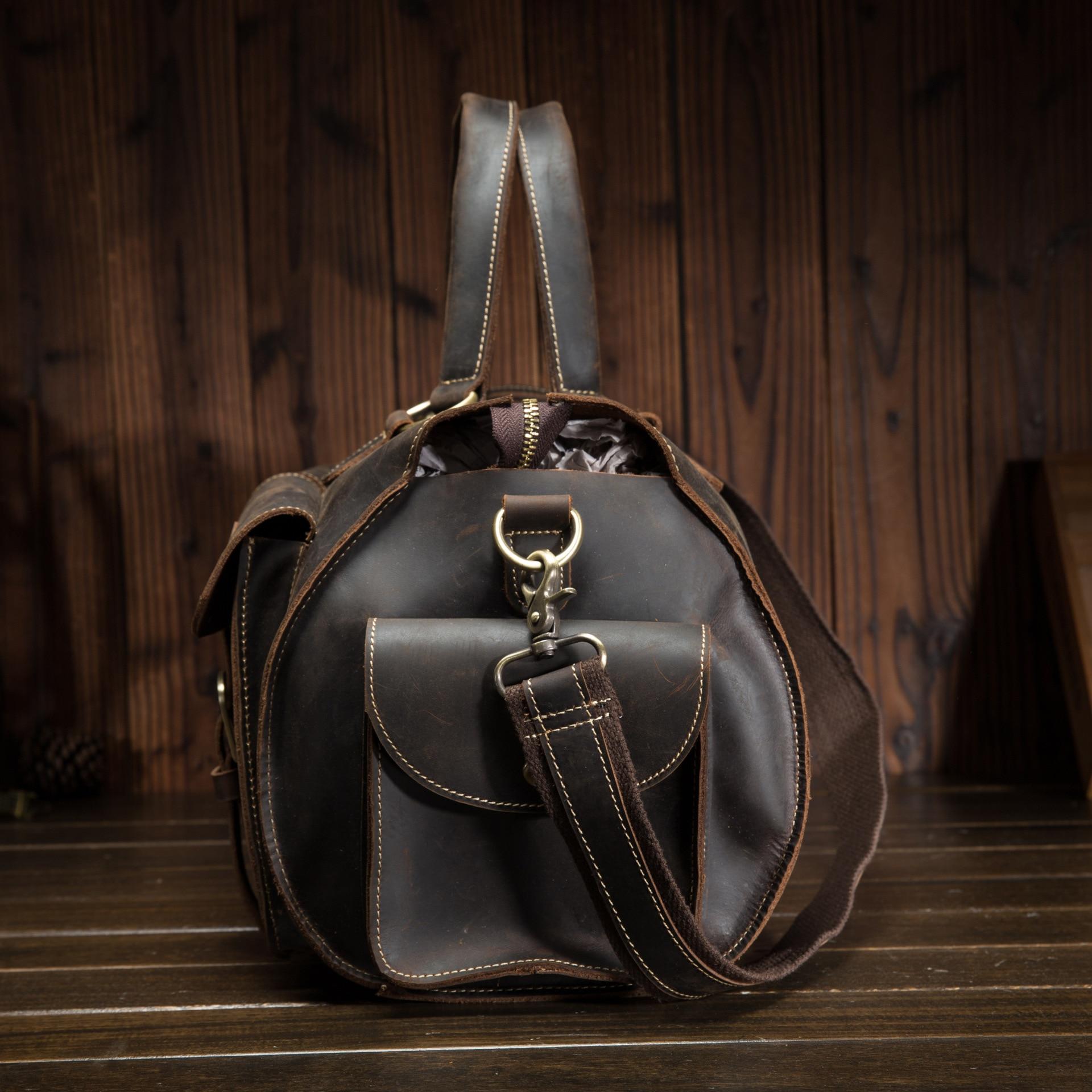 Neweekend дорожная большая сумка для мужчин, повседневный чемодан, ручная сумка из натуральной кожи для бизнеса, качественная сумка через плечо - 4