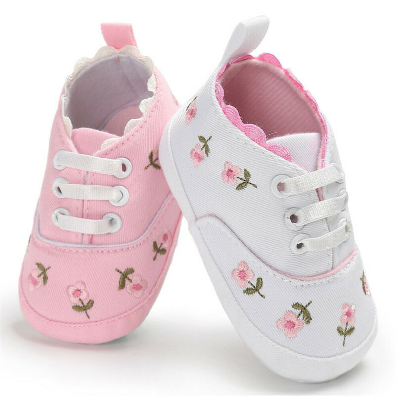 Flower Baby Infant Kid Girl Soft Shoes Sole Crib Toddler Casual Shoes Summer Princess Sneaker Cute Shoes 710