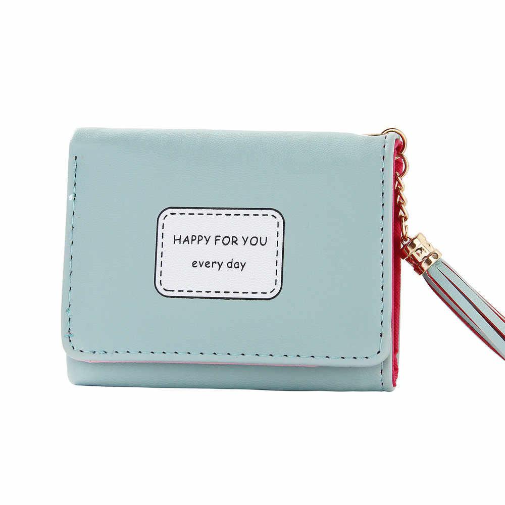 ผู้หญิง Simple Retro สั้นซิปกระเป๋าสตางค์เหรียญกระเป๋าถือกระเป๋าถือ 2019 ใหม่ Ultra-บางหนังกระเป๋าสตางค์ кошелек