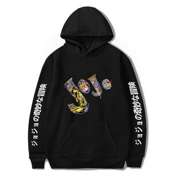 Anime JoJo Bizarre Adventure Men/Womens hoodies Harajuku Boys/Girls Sweatshirt Streetwear Hip Hop Hoodie Funny  winter Clothes
