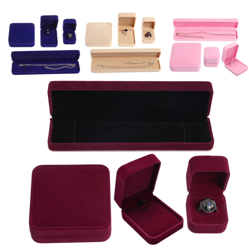 12 Styles Jewelry Ring Earring Necklace Bracelet Storage Box Organizer Display Case Christmas Anniversary Birthday Box Gifts