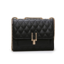 Yaphlee New womens shoulder bag mini Lingge chain Korean version of Joker Messenger small breeze