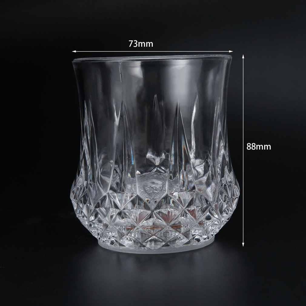 2017 1 ud. Taza de copa de vino con luz activada líquida de agua brillante intermitente LED taza de Fiesta de Luces/taza de clubes nueva llegada caliente