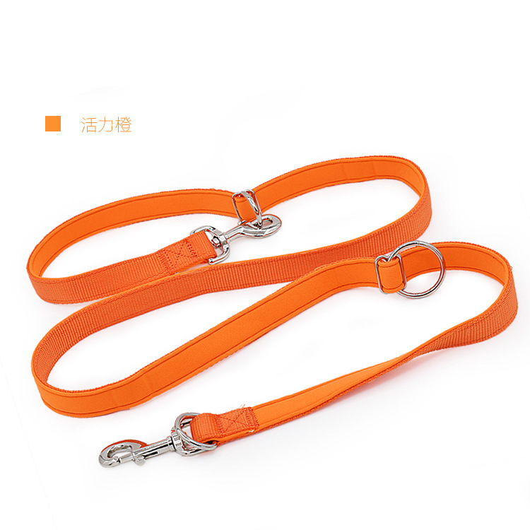Multi-functional And Medium-sized Dog Lengthen Hand Holding Rope Running Sling Golden Retriever Big Dog Double-ended Traction Ro