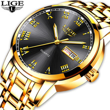 2020 LIGE New Men Watches Waterproof Stainless Steel Quartz Watch Male 24 Hour D
