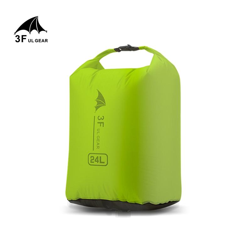 3F UL GEAR Drifting Bag  Pack Dry Sack Waterproof Bags For Canoe Kayaking Rafting 12L 24L 36L Camping Hiking