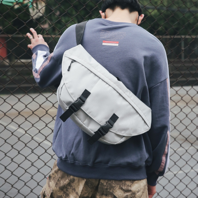 Crossbody Chest Bag Male Hip Hop Street Style Messenger Waist Bags Large Capacity Casual Shoulder Climbing Bag