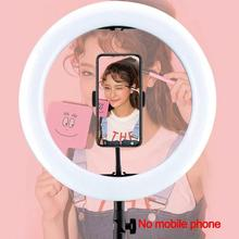 LED Ring Lamp 10 Dimmable Selfie Light with Tripod Stand and Phone Holder for Iphone Live Stream Make Up