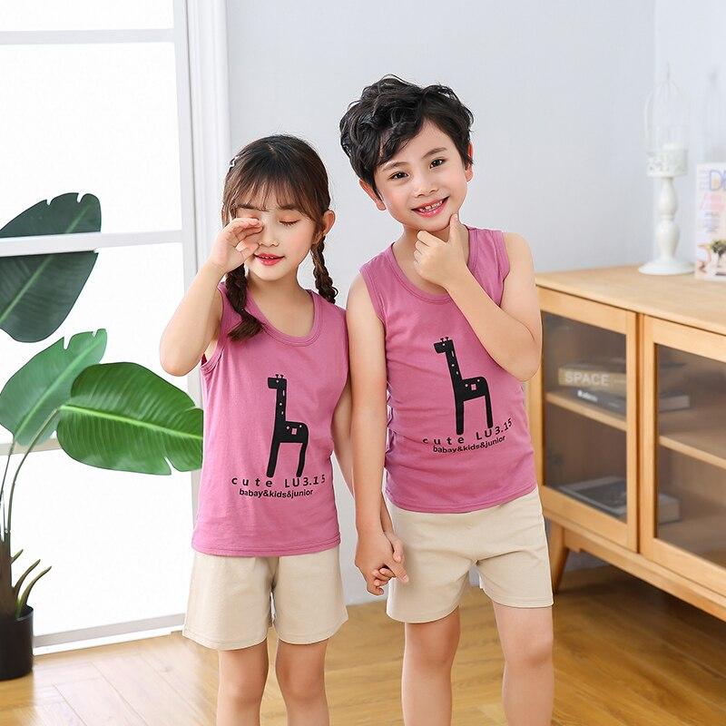 Summer Baby Boys Girls Sleepwear Suits Short Sleeve Children Pajamas Infantil Pyjamas Girls Cartoon Pijamas Kids Clothing Sets