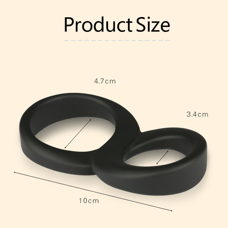 Mini Rings Double Cockring Delay Premature <font><b>Ejaculation</b></font> <font><b>Penis</b></font> Loop Lock Strapon Adult Sex Toys Product For Men Erotic Sex Shop image