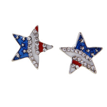 Hypoallergenic Crystal CZ Star Stud Earrings for Women Girls Rhinestone Earring Small Tiny Ear Studs(China)