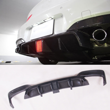 K Style with lamp LED Carbon fiber Rear Diffuser Lip For BMW F06 F12 F13 M6 carbon fiber rear diffuser fit for bmw 6 series f06 f12 f13 m6