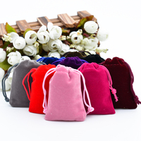 Wholesale Colorful Velvet Pouches 5x7cm/7x9cm/9x12cm Drawstring Jewelry Gift Packaging Bag Storage Bags For Home Office 500 pcs