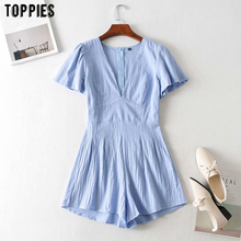 toppies summer jumpsuits womens short sleeve v-neck playsuit