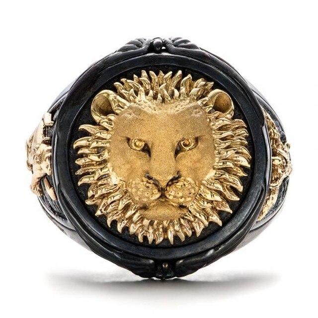 chevalière lion