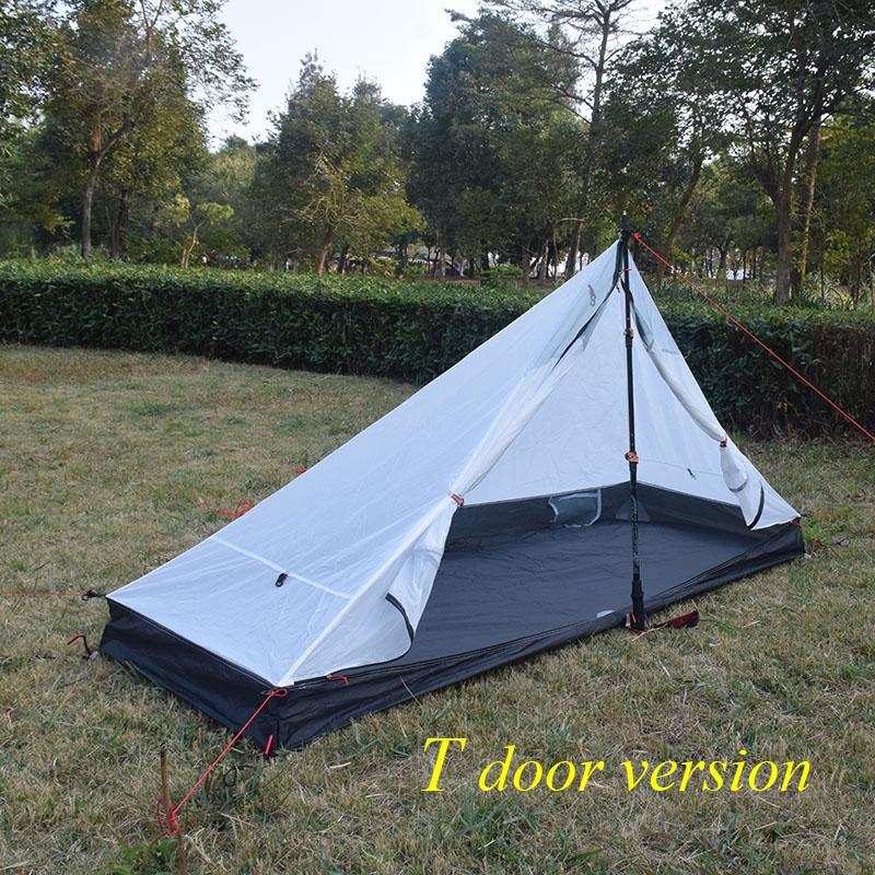 Image 2 - 370 grams Lanshan 1 Four seasons inner T door design 210*95/75*112cm tentTents