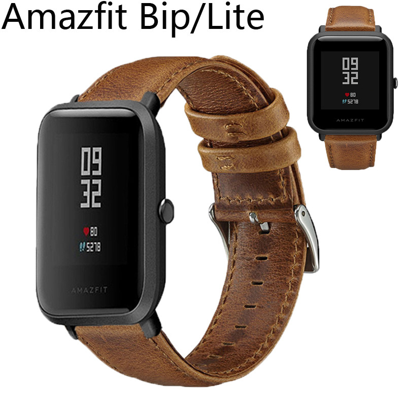 bracelet cuir amazfit bip