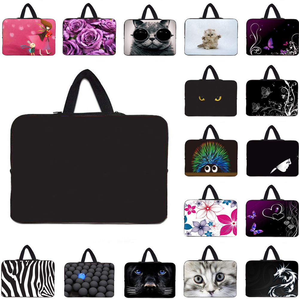 Neoprene Laptop PC Sleeve Bag Handle Carry Case For Macbook Pro Air 13.3 14 15 Acer Dell XPS 14 17 <font><b>Funda</b></font> <font><b>Portatil</b></font> <font><b>15.6</b></font> 17 Bolsas image