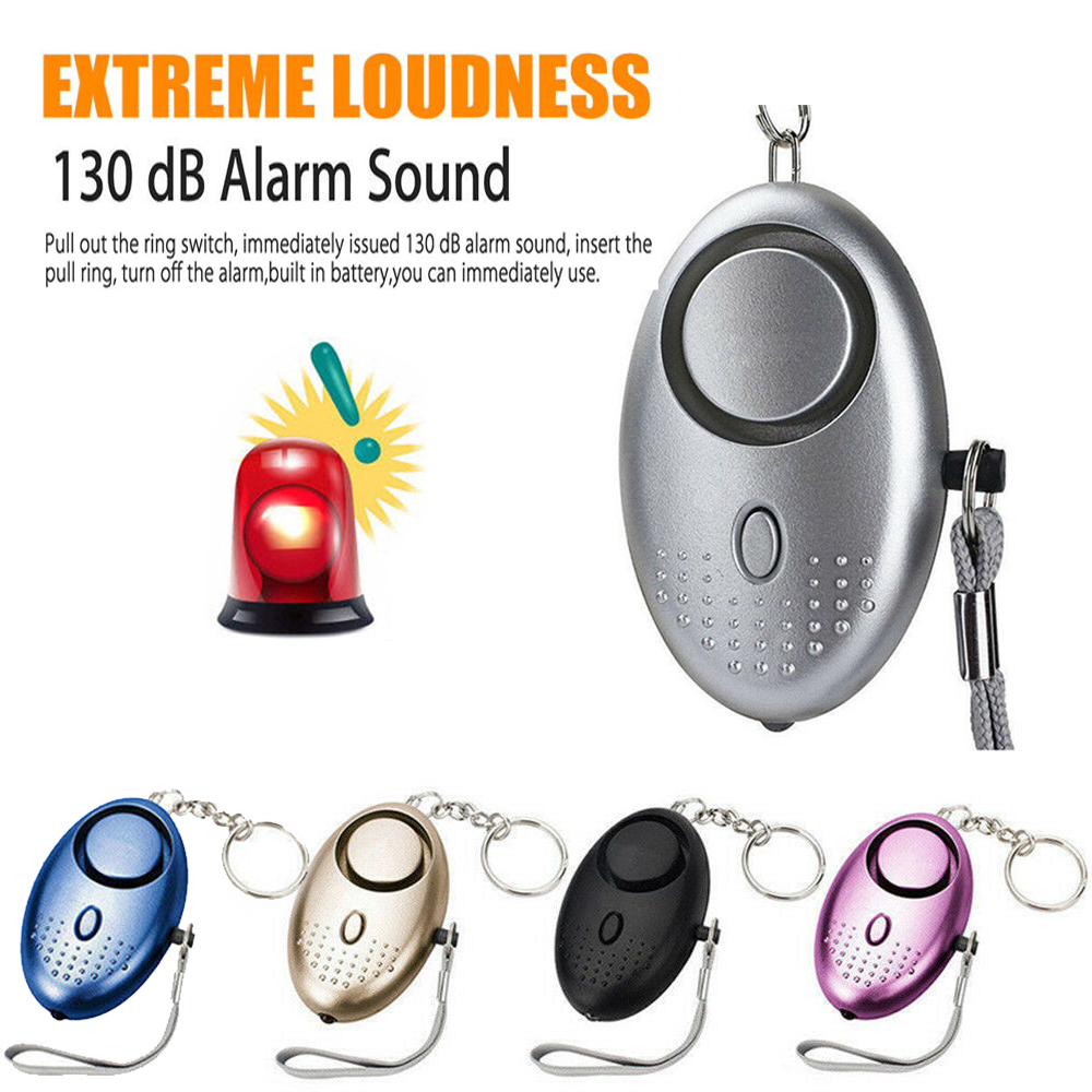 Self Defense Alarm 130dB Egg Shape Girl Women Security Protect Alert Personal Safety Scream Loud Keychain Emergency Alarm