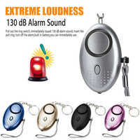 Self Defense Alarm 130dB Egg Shape Girl Women Security Protect Alert Personal Safety Scream Loud Keychain Emergency Alarm