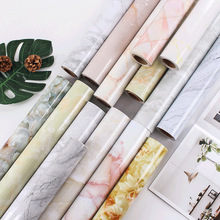 Kitchen Marble Oil-Proof Wallpaper PVC Dining Room Table Sticker Waterproof Counter-Top Home Bathroom Self Adhesive Wall Papers