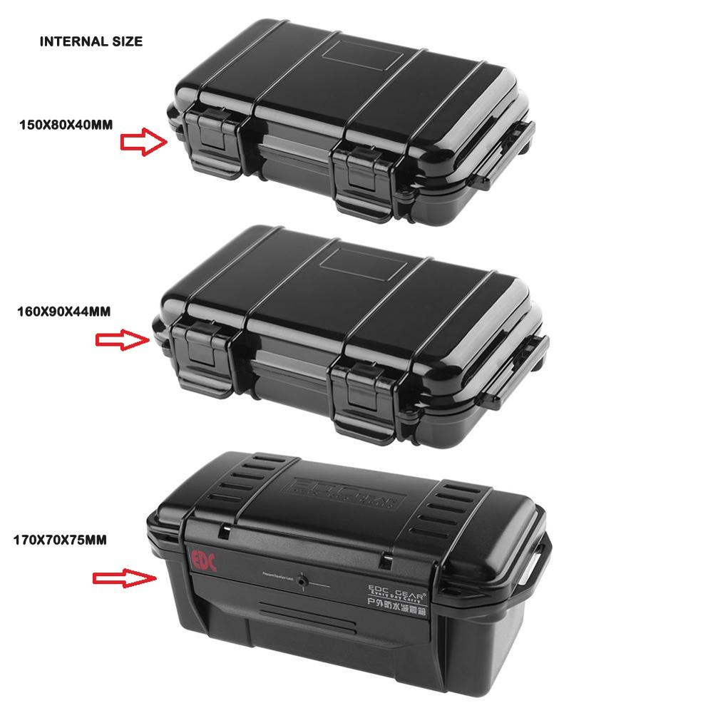 Tool Box Outdoor Shockproof Sealed Waterproof Safety Case ABS Plastic Tool Dry Box Caja De Herramienta 3 Sizes