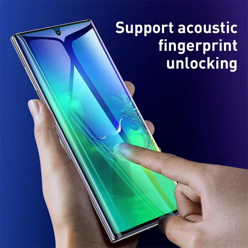 Image 5 - Baseus 2pcs 0.15mm Full Screen Protector Film for Samsung Galaxy Note 10 Note 10 Plus Protective Film for Note 10 Plus Glass-in Phone Screen Protectors from Cellphones & Telecommunications on