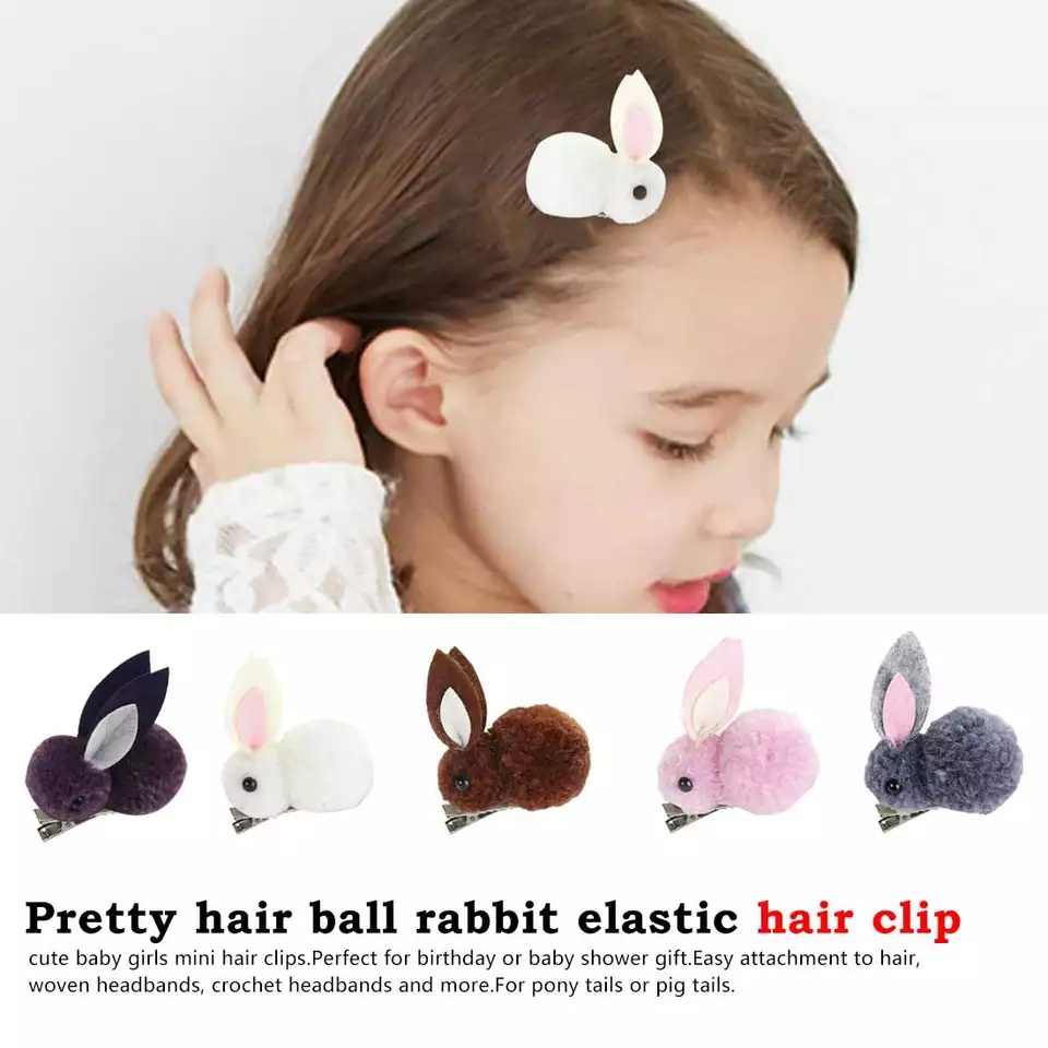 10pcs baby hair accessories cute hairball baby girls head wear rubber bands AB