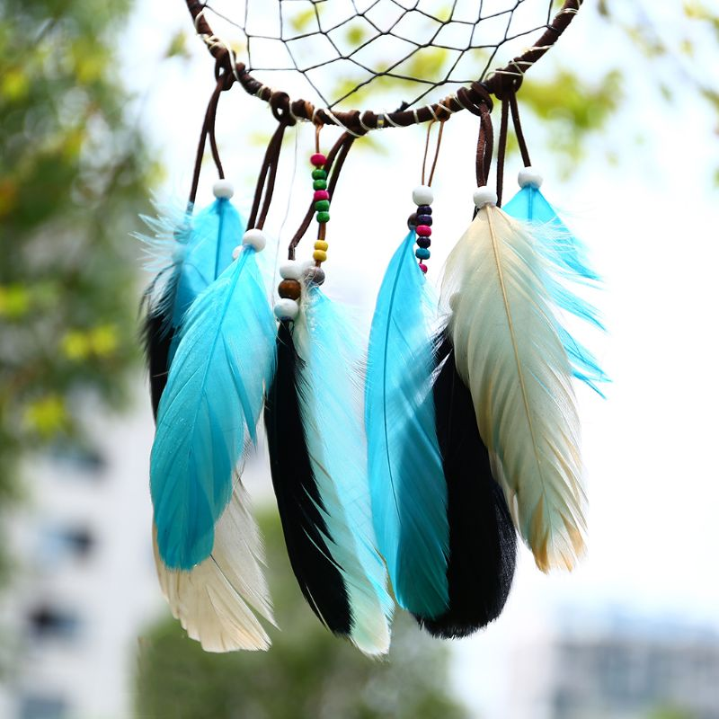Indian Style Color Feather Dream Catcher Hanging Home Decoration Simple Feather Handmade Jewelry Creative Handmade Gift 40JE
