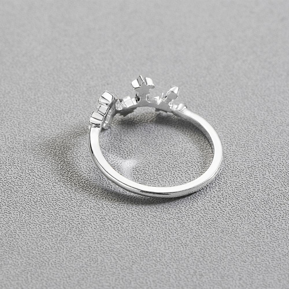 CHENGXUN Taurus Scorpio Virgo 12 Constellation Rings for Women Girls Party Fashion Pisces Star Jewelry Birthday Gift 4