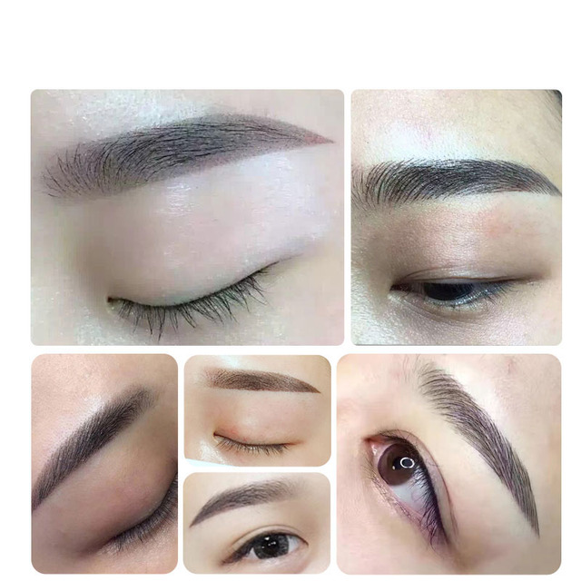 0.18mm Laminas Agulhas Tebori Microblading needles Permanent Makeup Tattoo Needle 7 9 12 14 17 21 Blades for Eyebrow Manual Pen 5