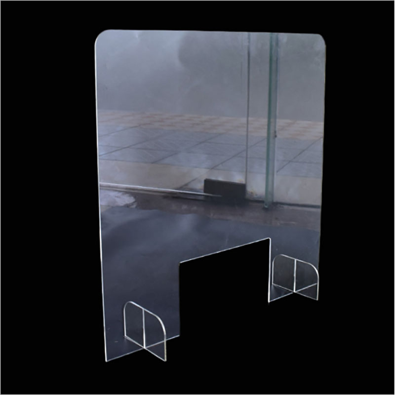 Completely Transparent Desk Partition Screen Table Divider Protection Barrier Counter Acrylic Isoltion Baffle Partition To Table