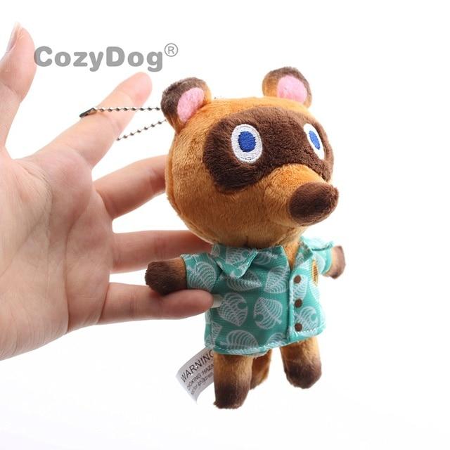 14 cm/26 cm Raccoon Plush Animal Toy Crossing Cartoon Blindfold Figure Japan Anime Animal Crossing Game Doll Women Kids Gift