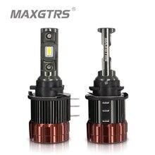 H15 LED Canbus gündüz çalışan araba ışıkları far Mazda 6 için CX5 Mercedes A180 GLK Q7 BMW için Golf 6 7 A260 hata ücretsiz