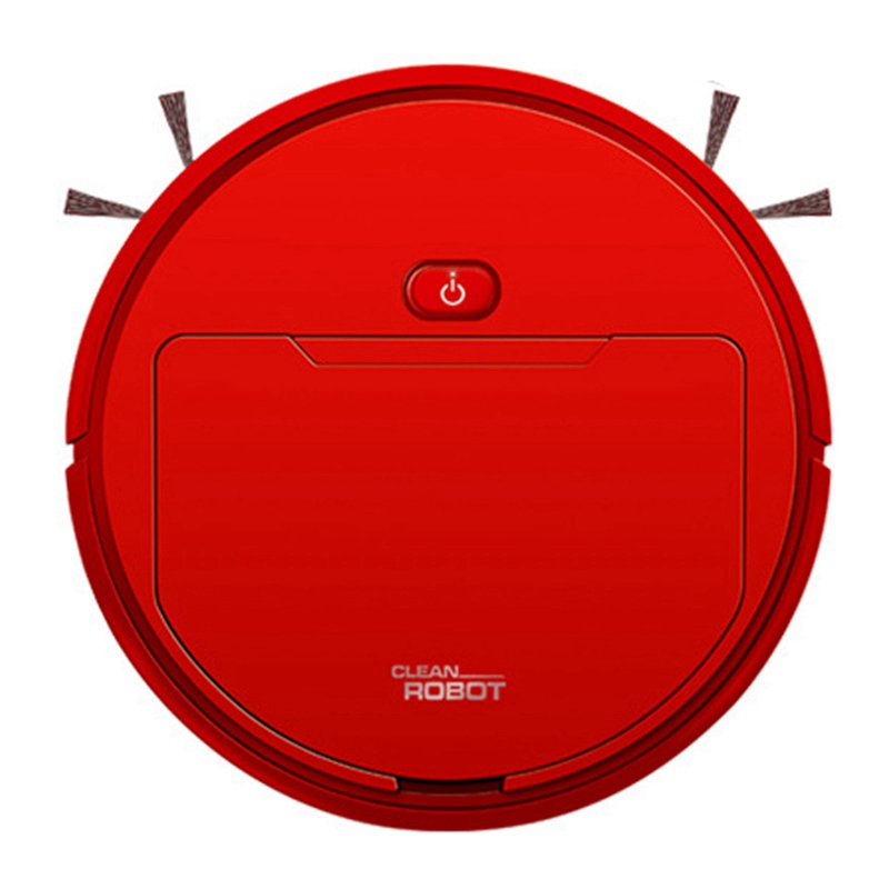 Hot 2500Pa Multifunctional Smart Vacuum Cleaner Robot Sweep Wet Mop Automatic 3-In-1Recharge Dry Wet Sweeping Vacuum Cleaner Red