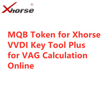 MQB Token for Xhorse VVDI KEY TOOL PLUS To Get IMMO Data Calculate Online for VAG Support MQB49 Remote