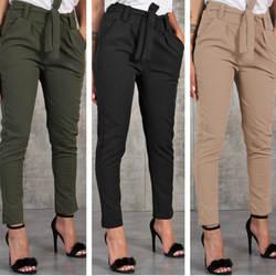 Облегающие Комбинезоны тонкие женские повседневные тонкие шифоновые тонкие брюки для женщин с высокой талией черные Хаки зеленые брюки